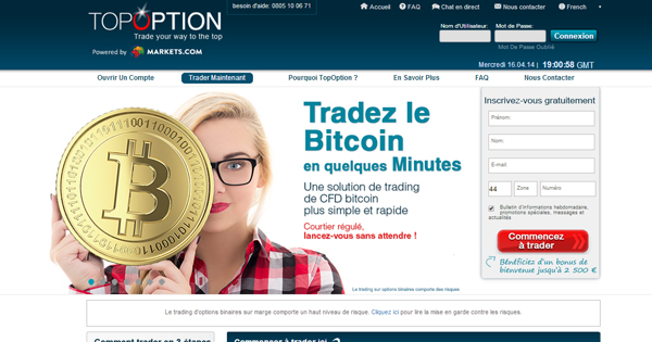 Bitcoin et options binaires