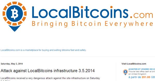 Localbitcoins.com : attaque en mai 2014