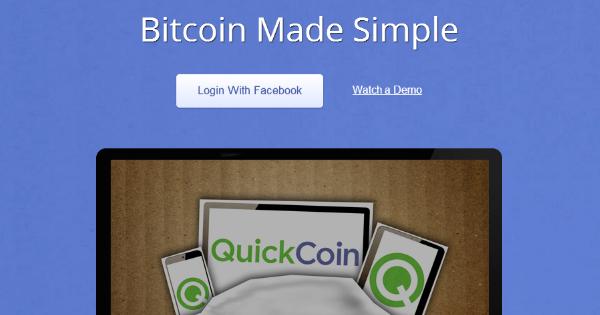 QuickCoin, une application Facebook pour Bitcoin