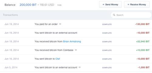 Coinbase : changez les prix en Bits
