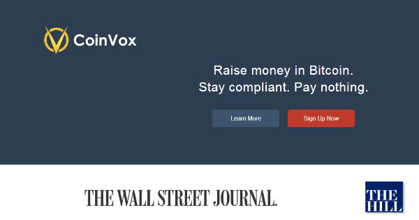 CoinVox : finance une campagne électorale