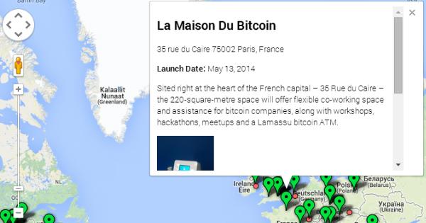 Carte du monde des distributeurs de Bitcoins