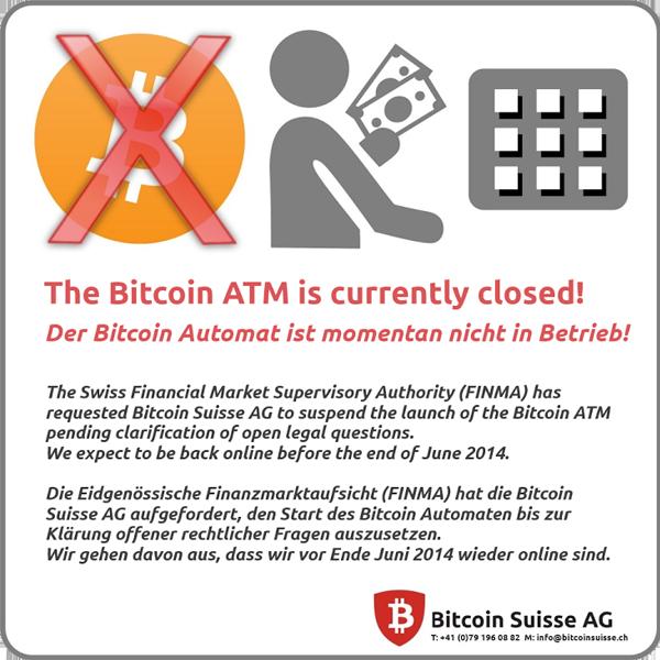 Bitcoin : Suisse, distributeur illégal ?