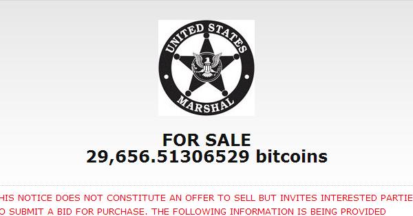 USA : Bitcoins de Silk Road aux enchères