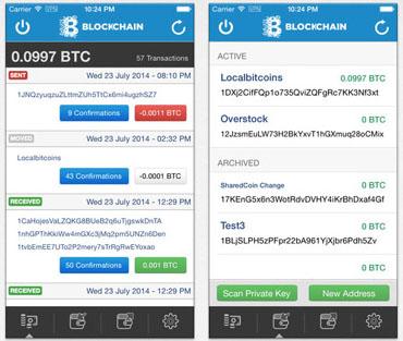 Blockchain sur l'App Store Apple