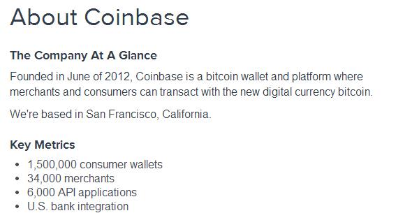 Coinbase : 1.5 millions de portefeuilles Bitcoins