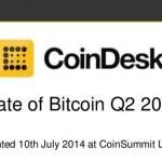 Coindesk : Etude Bitcoin Q2 / 2014
