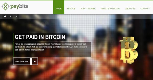 Paybits verse le salaire en Bitcoin