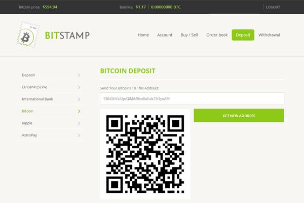 Bitstamp : Dépôt en euros
