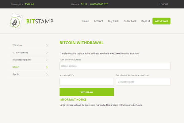 Bitstamp vers Coinbase