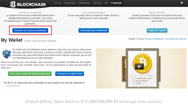 Tutoriel : Blockchain, portfeuille Bitcoin