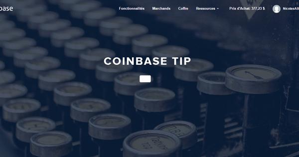 Coinbase Tip