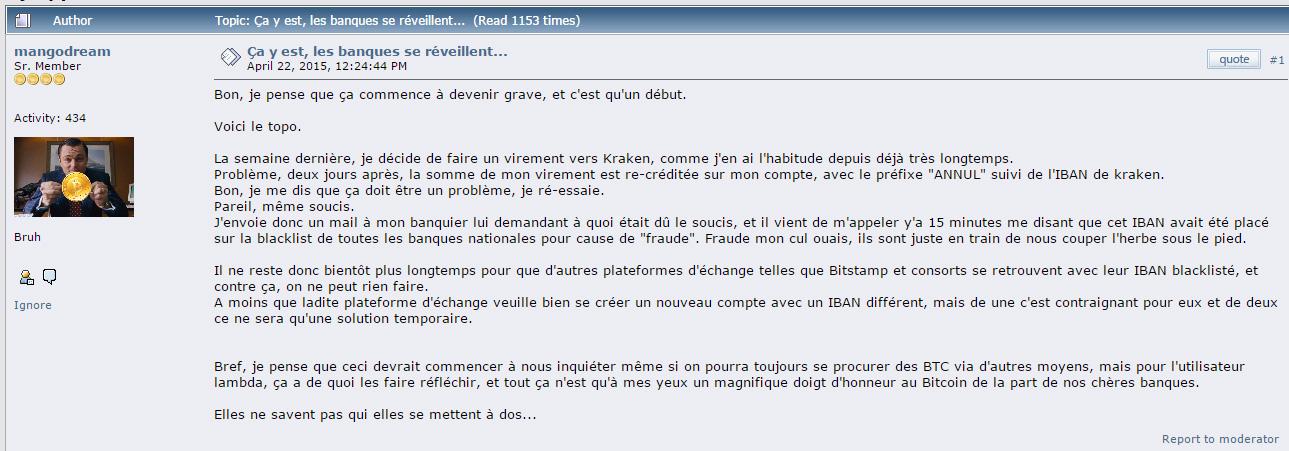 Les banques françaises auraient une 'blacklist' des IBAN de