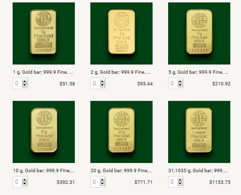 Bitstamp accepte les retraits en or