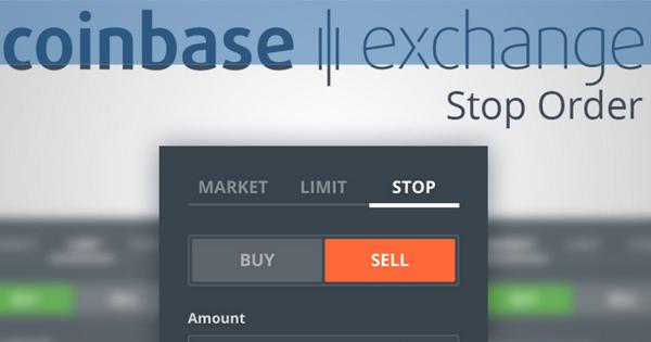 Ordre Stop sur Coinbase Exchange